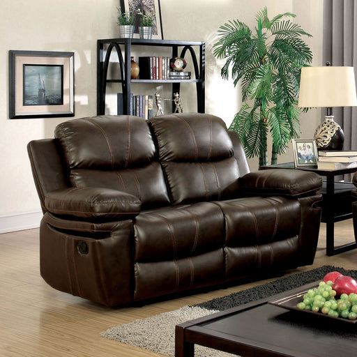 Listowel Brown Love Seat - Canales Furniture