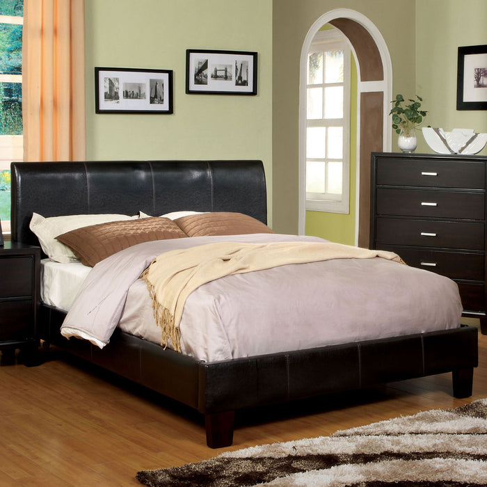 VILLA PARK Espresso E.King Bed - Canales Furniture