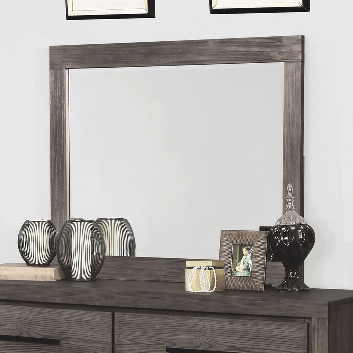 Oakburn Weathered Warm Gray Mirror - Canales Furniture