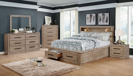 Oakburn Weathered Warm Gray 5 Pc. Queen Bedroom Set w/ Chest &Jewelry - Canales Furniture