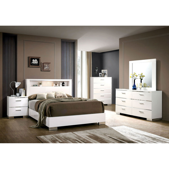 Malte White 4 Pc. Queen Bedroom Set - Canales Furniture