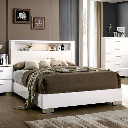 Malte White Queen Bed - Canales Furniture