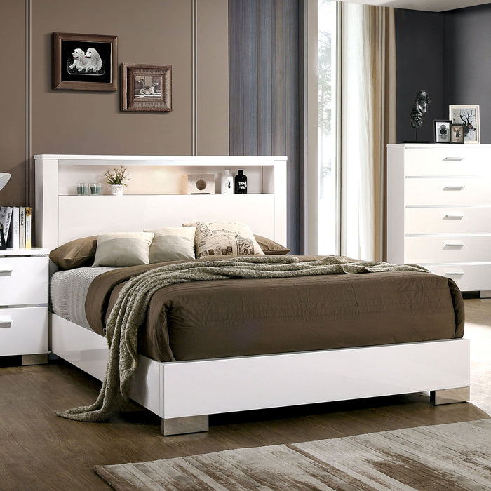 Malte White Cal. King Bed - Canales Furniture