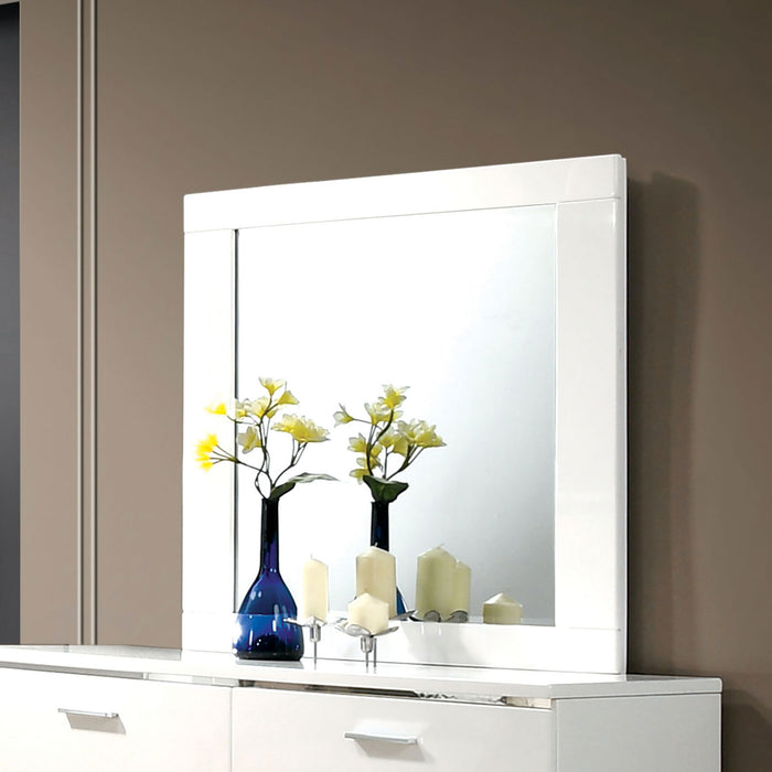 Malte White Mirror - Canales Furniture