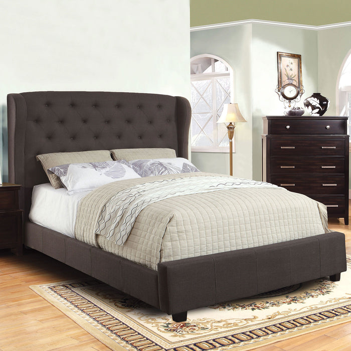 Fontes Gray Cal.King Bed - Canales Furniture