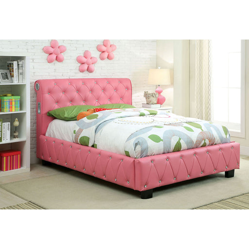 Juilliard Pink Twin Bed - Canales Furniture