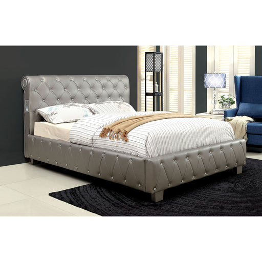 Juilliard Silver Full Bed - Canales Furniture