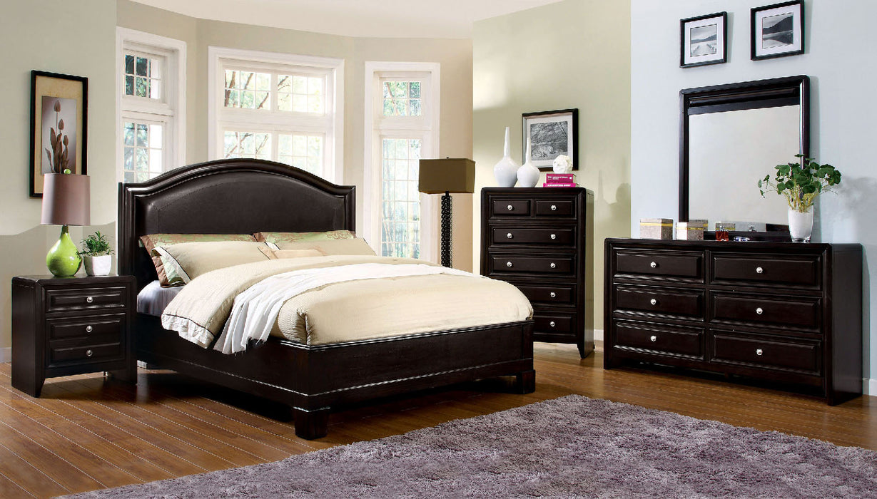 Winsor Espresso 5 Pc. Queen Bedroom Set w/ Chest - Canales Furniture