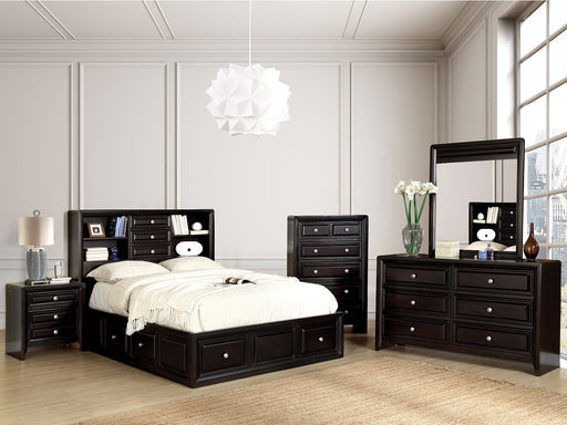 Yorkville Espresso 5 Pc. Queen Bedroom Set w/ 2NS - Canales Furniture