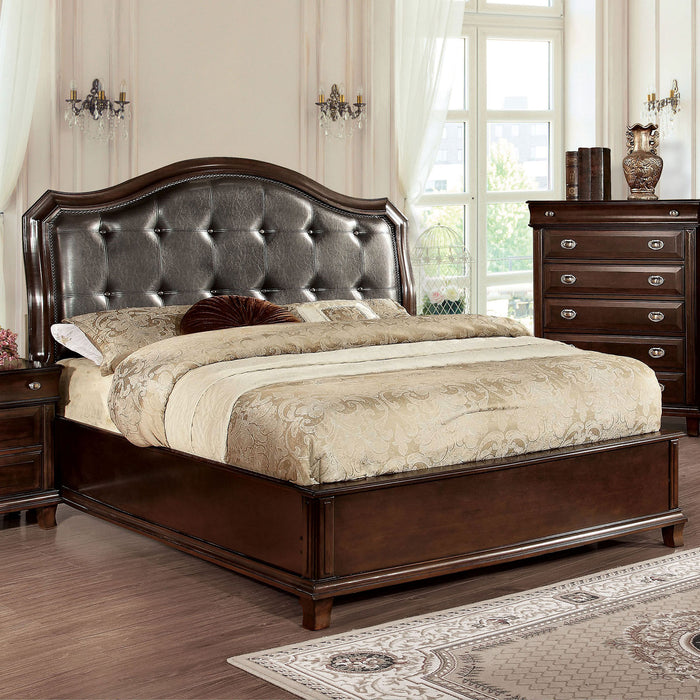 Arden Brown Cherry E.King Bed - Canales Furniture