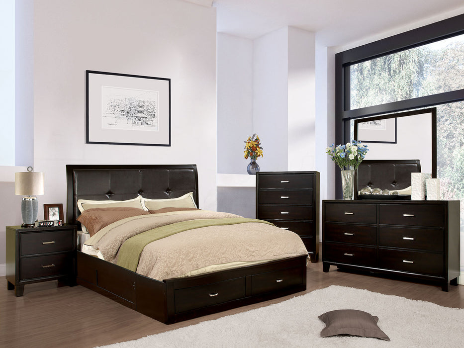 Enrico III Espresso 5 Pc. Queen Bedroom Set w/ 2NS - Canales Furniture