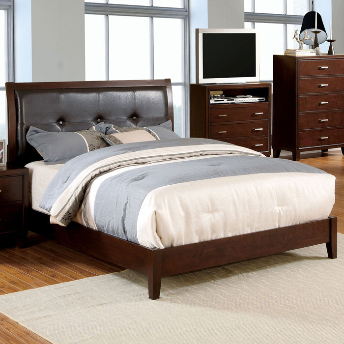 Enrico I Brown Cherry E.King Bed - Canales Furniture