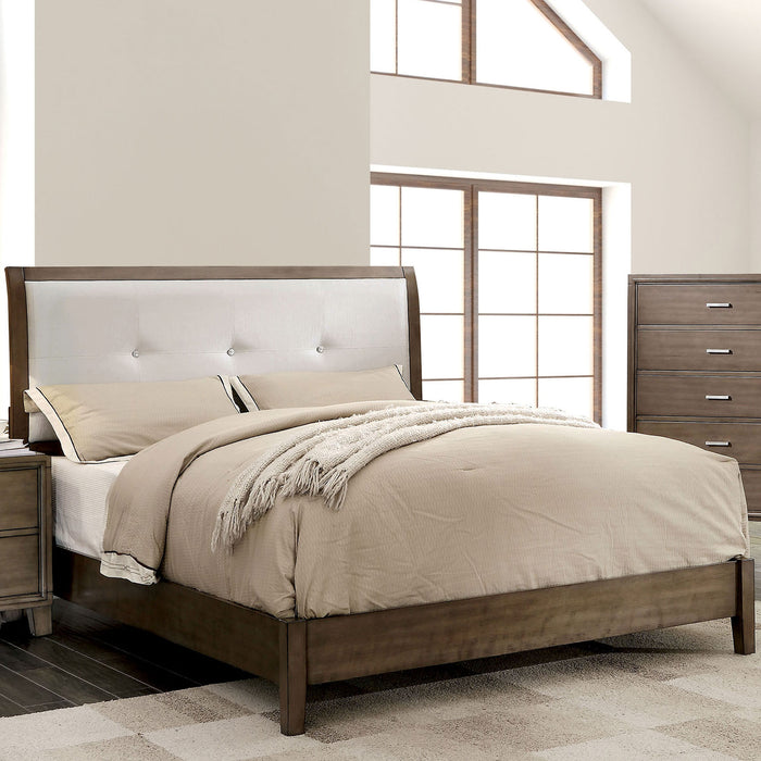 ENRICO I Gray Full Bed - Canales Furniture
