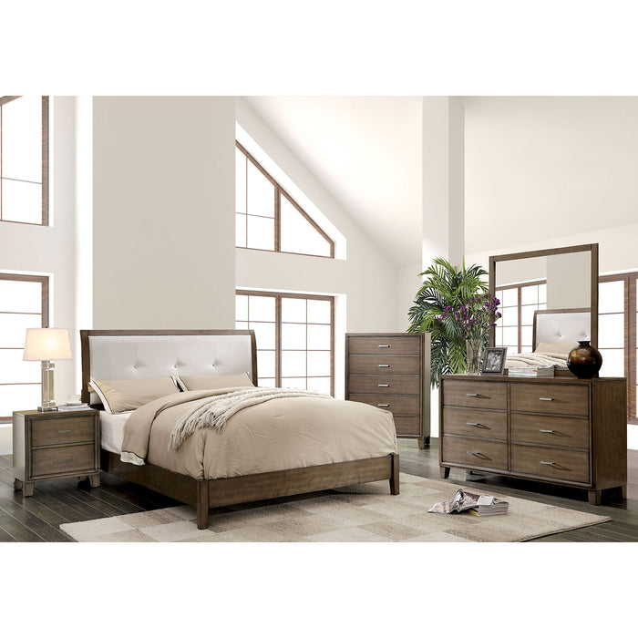 ENRICO I Gray 5 Pc. Queen Bedroom Set w/ Chest - Canales Furniture