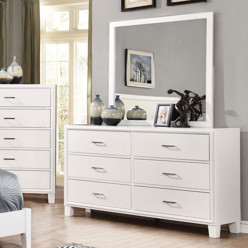 ENRICO I White Dresser - Canales Furniture