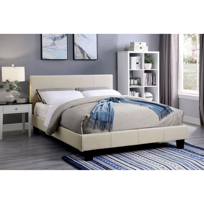 Sims Beige Twin Bed - Canales Furniture