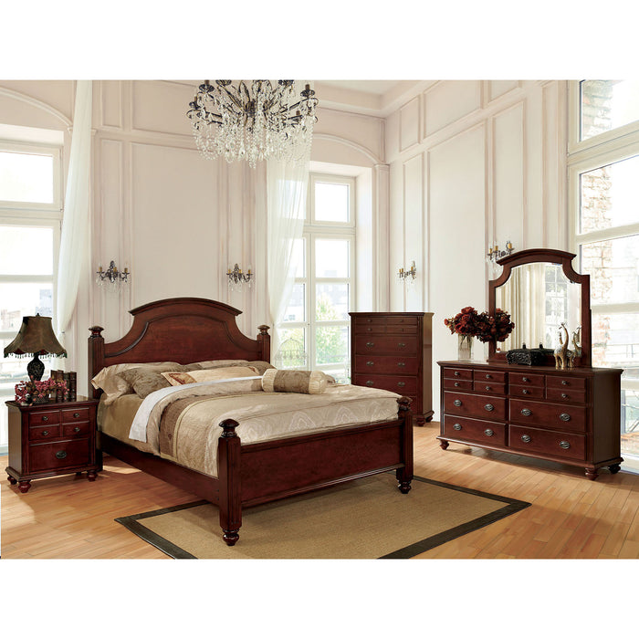 Gabrielle II Cherry Cal.King Bed - Canales Furniture