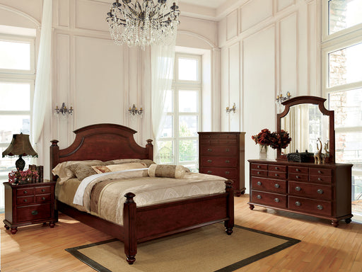 Gabrielle II Cherry 5 Pc. Queen Bedroom Set w/ Chest - Canales Furniture