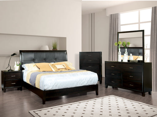 Enrico I Espresso 5 Pc. Queen Bedroom Set w/ Chest - Canales Furniture