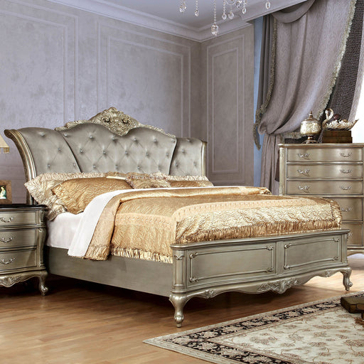 JOHARA Gold Queen Bed - Canales Furniture