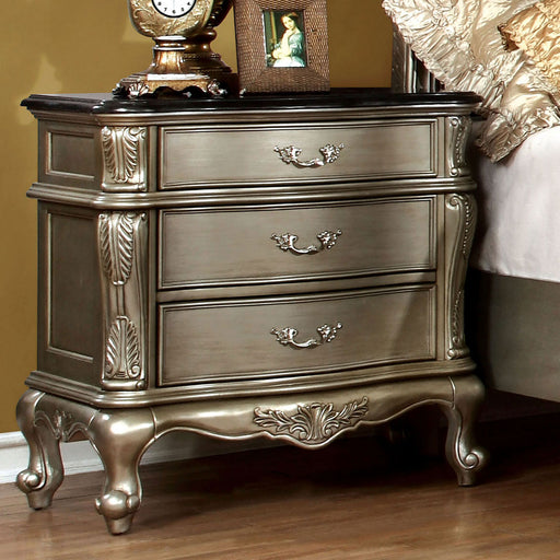 JOHARA Gold/Black Night Stand - Canales Furniture