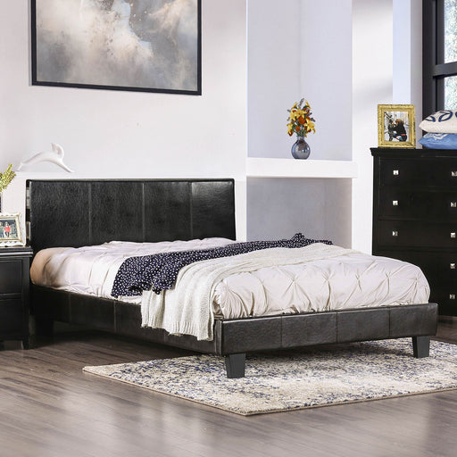 EVANS Espresso E.King Bed - Canales Furniture