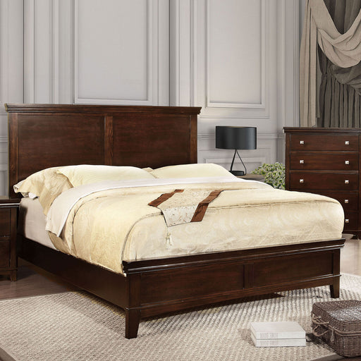 Spruce Brown Cherry Queen Bed - Canales Furniture