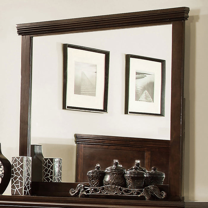 Spruce Brown Cherry Mirror - Canales Furniture