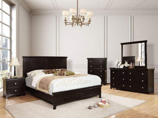 Spruce Espresso 5 Pc. Queen Bedroom Set w/ Chest - Canales Furniture