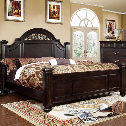 Syracuse Dark Walnut Queen Bed - Canales Furniture