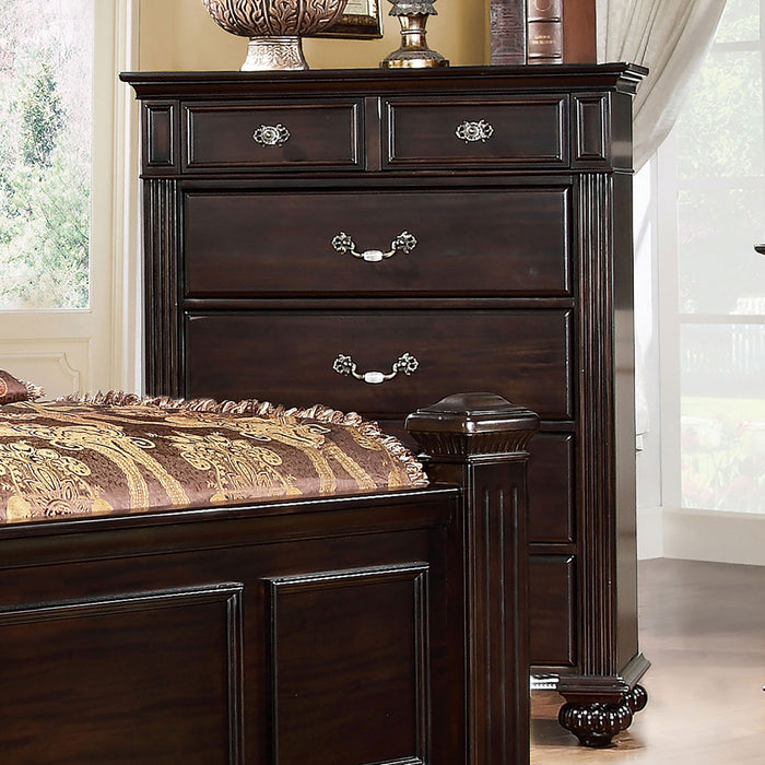 Syracuse Dark Walnut Chest - Canales Furniture