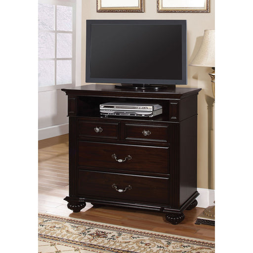 Syracuse Dark Walnut Media Chest - Canales Furniture