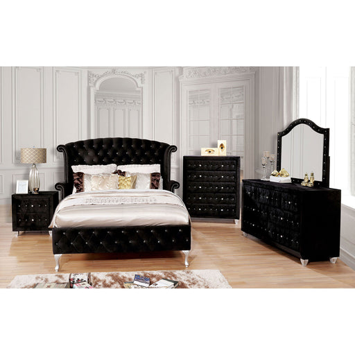 Alzire Black 4 Pc. Queen Bedroom Set - Canales Furniture