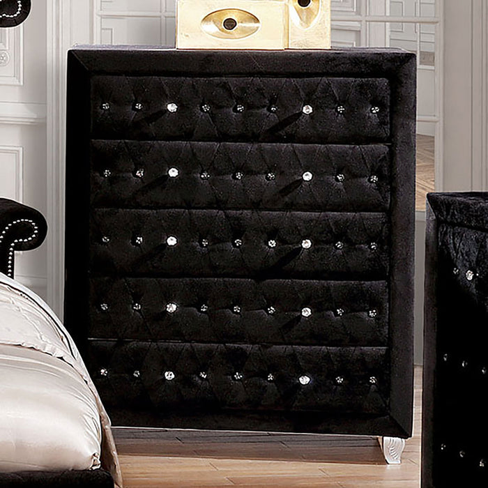Alzire Black Chest - Canales Furniture