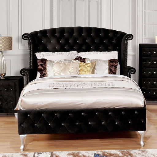Alzire Black Queen Bed - Canales Furniture