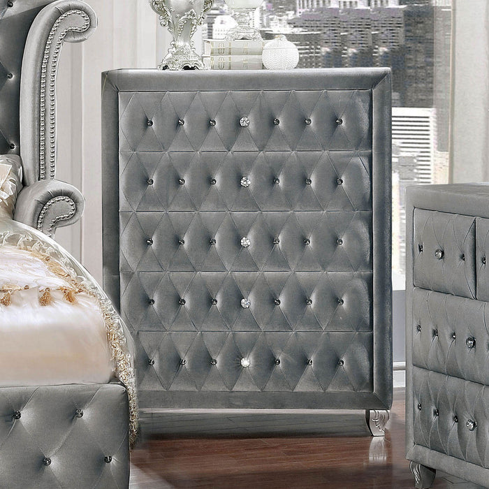 Alzir Gray Chest - Canales Furniture