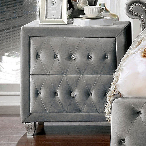 Alzir Gray Night Stand - Canales Furniture