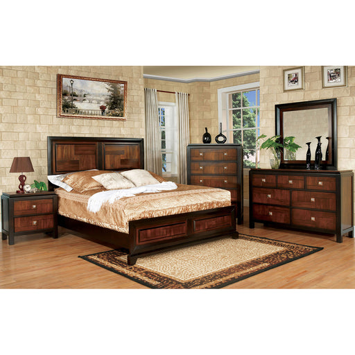 Patra Acacia/Walnut 5 Pc. Queen Bedroom Set w/ 2NS - Canales Furniture