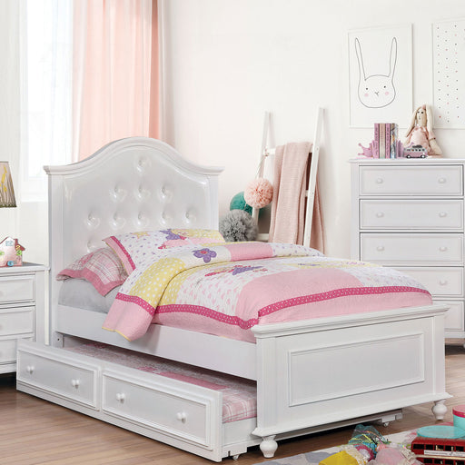OLIVIA White Twin Bed - Canales Furniture