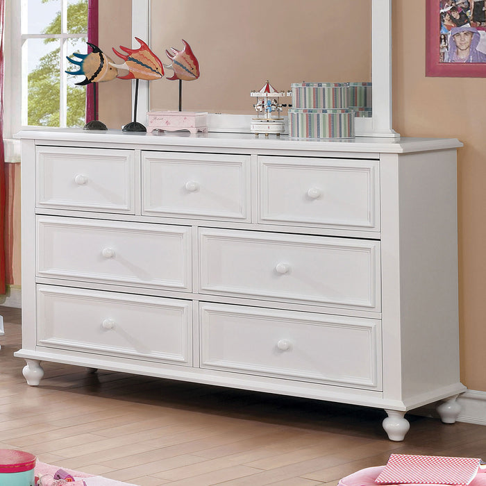 OLIVIA White Dresser - Canales Furniture