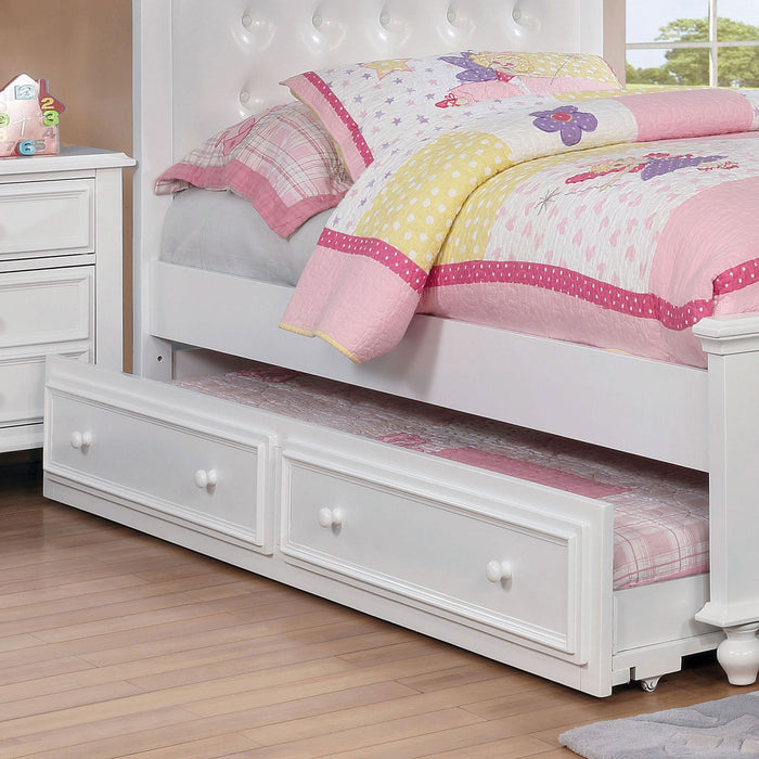 OLIVIA White Trundle - Canales Furniture