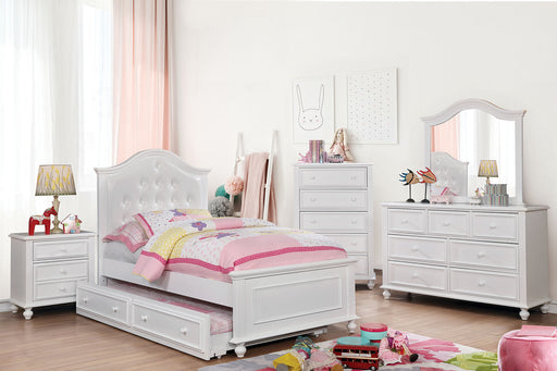 OLIVIA White 4 Pc. Twin Bedroom Set - Canales Furniture