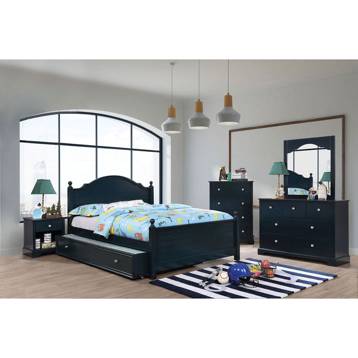 Diane Blue 4 Pc. Full Bedroom Set w/ Trundle - Canales Furniture