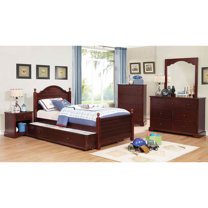 Diane Cherry 4 Pc. Twin Bedroom Set - Canales Furniture