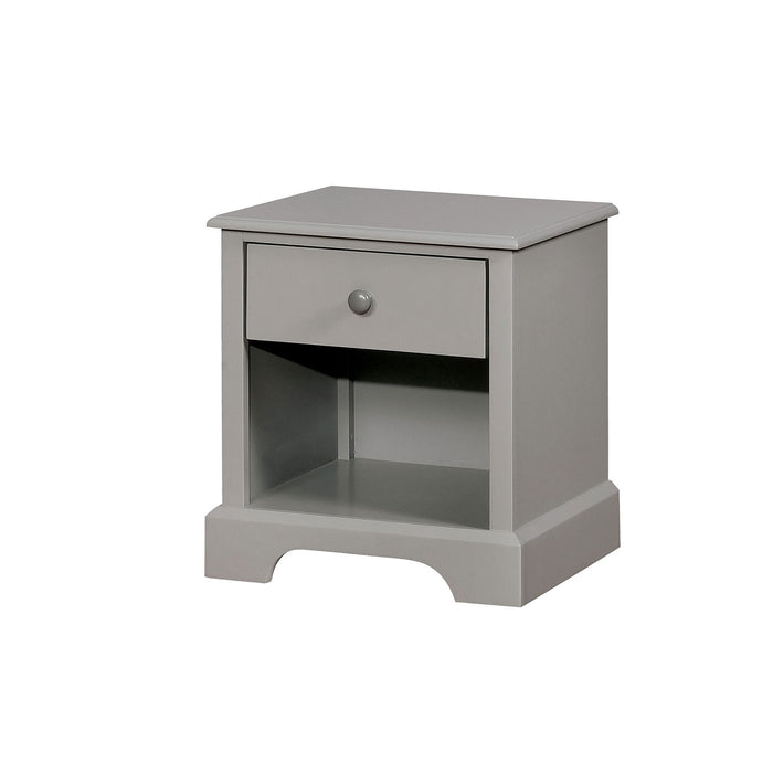 Diane Gray Night Stand - Canales Furniture