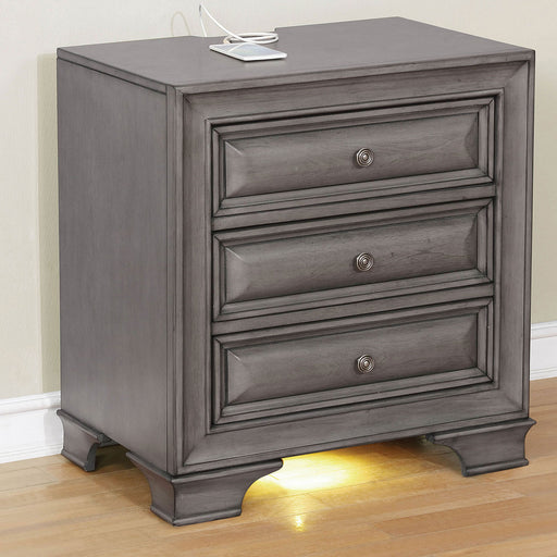 Brandt Gray Night Stand - Canales Furniture