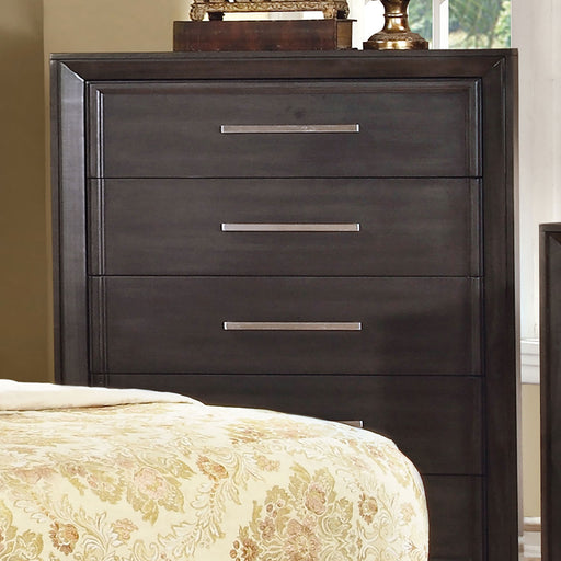 BRADLEY Dark Gray Chest - Canales Furniture