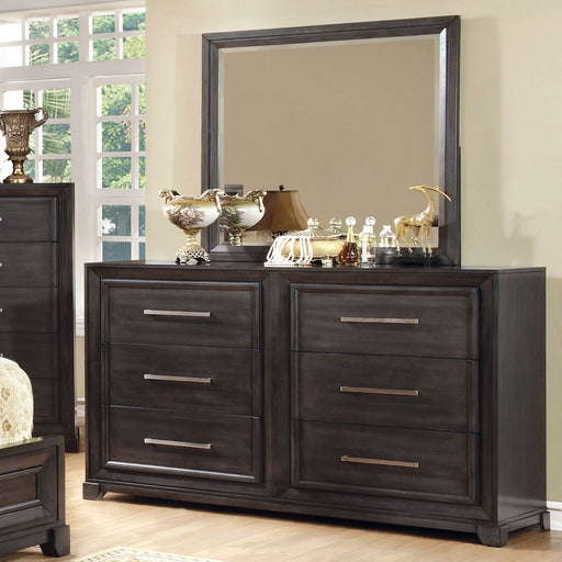 BRADLEY Dark Gray Dresser - Canales Furniture