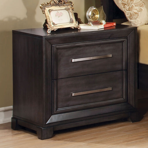 BRADLEY Dark Gray Night Stand - Canales Furniture