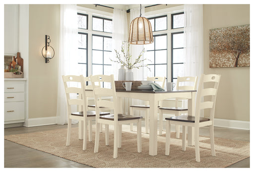 Woodanville Signature Design by Ashley Dining Table Set of 7 - Canales Furniture